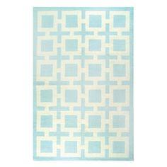 Jonathan Adler light blue richard nixon rug