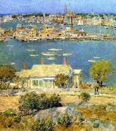 The Athenaeum - Gloucester Harbor (Frederick Childe Hassam - )