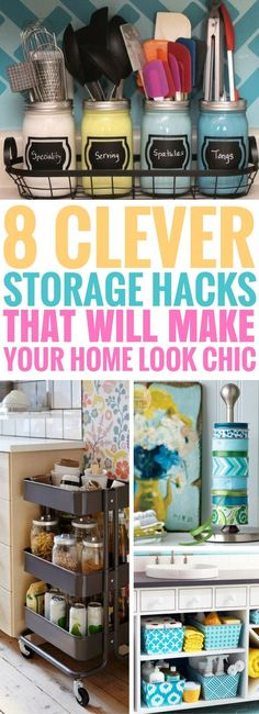 8 Clever Storage Hacks That'll Make Your Home Look Chic - Craftsonfire Easy Home Decor, Handmade Home Decor, Cheap Home Decor, Storage Hacks, Diy Storage, Storage Ideas, Smart Storage, Storage Baskets, Rangement Pour Walk In