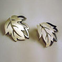 Falling Leaves Earrings by CK Metalsmithing
