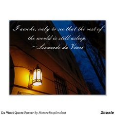 Search for customizable Quote posters & photo prints from Zazzle. Da Vinci Quotes, Quote Posters, Movie Posters, Night Quotes, Make Your Own Poster, Rest Of The World, Modern Artwork, Tool Design, Free Design