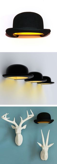 Jeeves bowler hat sconce