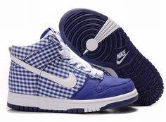 promo code b3ab0 92caa Classy Blue Suede Nikes Nike High Tops, Nike Dunk High, Cheap Designer  Shoes,