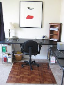 After finishing the Chrome & Leather Desk  for my Husband's Office, I realized that his rolling office chair was not the best thing for ou...