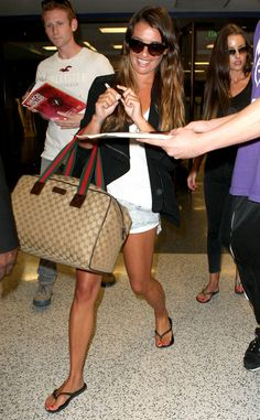 SPOTTED: Lea Michele traveling in Slim Black