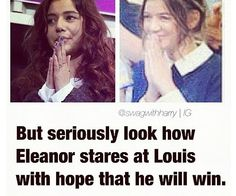 ALL U LARRY SHIPPERS JUST LOOK AT THIS PICTURE! IF THAT DOESNT LOOK LIKE LOVE THEN GO GET YO EYES CHECKED. SERIOUSLY STOP SAYING LOUIS IS GAY AND ELOUNOR IS FAKE. I MEAN LOOK AT HER! SHE IS ADORABLE! NOW SHUT UP AND LET THEM BE HAPPY FOR GOD SAKES!!!