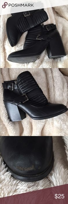 Boohoo ankle boots Super cute super versatile moto inspired ankle boots! Small wear on the soles and a scuff on one of the toes otherwise very good condition! Boohoo Shoes Ankle Boots & Booties