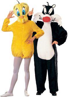 Disfraz pareja Piolin y Sylvestre Loony Tunes™ Disponible en: http://www.vegaoo.es/disfraz-pareja-piolin-y-el-gato-sylvestre-loony-tunes.html?type=product