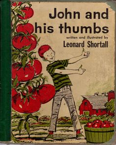 vintage kids garden book John and His Thumbs by OnceUponABookshop, $5.00