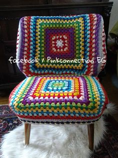 Mmmmm.....I might just like to granny square my office chair! :-)