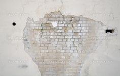 White brick with plaster