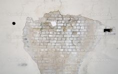 White brick with plaster