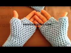 knitting fingerless peanut glove model making - EMİLY Knitting Blogs, Knitting Patterns, Crochet Patterns, Fingerless Gloves Crochet Pattern, Knitted Gloves, Crochet Shoes, Crochet Clothes, Crochet Wrist Warmers, How To Start Knitting