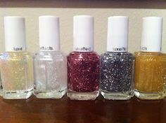 "Polish Haul! Essie Luxeffects, ""Shine Of The Times"", ""Pure Pearlfection"", ""A Cut Above"", ""Set In Stones"", and ""As Gold As It Gets""."