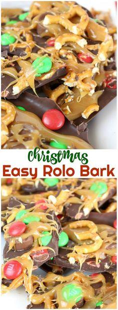 Holiday Rolo Pretzel Bark