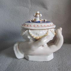 c1880s Victorian Figural Ladies Hand Jewelry Box
