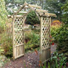 Blooma Elegant Wooden Garden Arch Home Delivered 5397007055603 Gothic