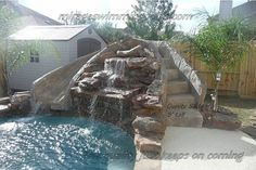 Pool Slide Retaining Wall Slide On Hill Back Yard And Garden Pinterest Los Angeles