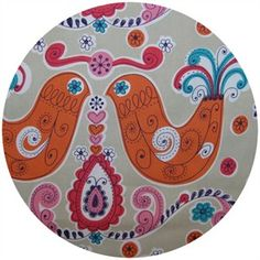 Prints Charming for Kokka, Daisy Chain, Birds Pink    $9.45 per half yard