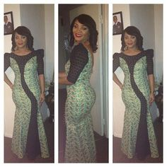 Creative Ankara Long Gown Design http://www.dezangozone.com/2016/09/creative-ankara-long-gown-design_9.html