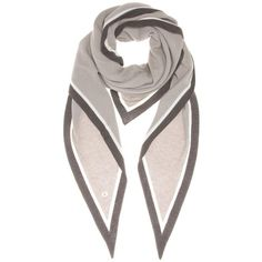 Loro Piana Summer Twice Cashmere and Silk Scarf ($1,075) ❤ liked on Polyvore featuring accessories, scarves, grey, grey shawl, cashmere scarves, grey scarves, loro piana scarves and gray scarves