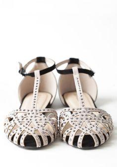 Lynna T-strap Flats