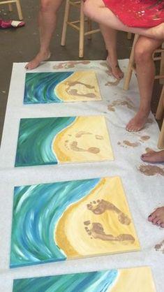 Ocean art projects for kids sea theme ideas for 2019 Kids Crafts, Arts And Crafts, Beach Crafts For Kids, Ocean Crafts, Sand Art For Kids, Girls Night Crafts, Summer Crafts For Kids, Beach Kids, Art Kids