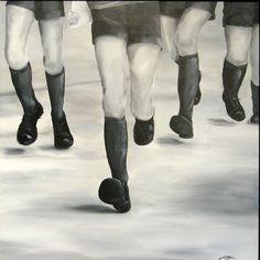 """""""Les écoliers""""80 cm x 80 cm Acrylic on canvas 500 euro"""