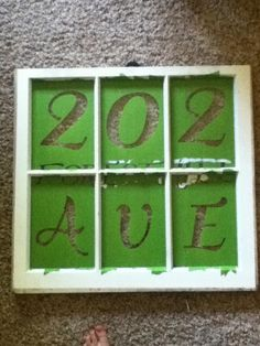 DIY: Vintage Window As Address
