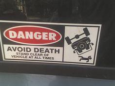 Funny bumper sticker--