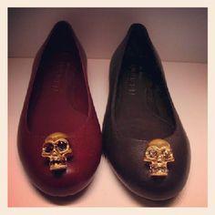 Alexander McQueen jewel skull flats