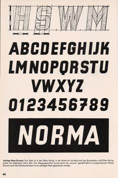 """""""Schrift"""" by Ernst Bentele, Lettering Fonts Design, Font Design, Typography Poster Design, Types Of Lettering, Graffiti Lettering, Typography Letters, Type Design, Painted Letters, Hand Painted Signs"""
