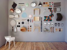 Neatly arranged items