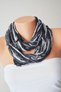 Hey, I found this really awesome Etsy listing at https://www.etsy.com/listing/156615088/scarf-wool-chain-necklace-infinity-scarf