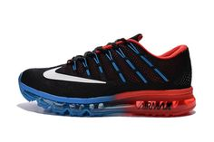 best service 06772 53b08 Nike Air Max 2016 Men Black Blue Red Shoes by batsye858
