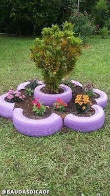 39 Cheap and Easy DIY Garden Ideas Everyone Can Do - Decoration Fireplace Garden art ideas Home accessories Tire Garden, Garden Yard Ideas, Diy Garden Projects, Easy Garden, Garden Crafts, Diy Garden Decor, Garden Planters, Garden Decorations, Garden Beds