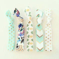 D'ananas tropical cheveux cravate ensemble / / par LoveMiaCo