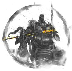 Soulstober Day 4&5 Ornstein and Smough