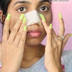 DIY natural nose strips  Egg whites have skin lifting and pore tightening benef