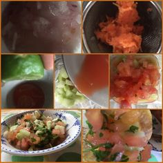Backtoeden: Ceviche de Guatila y Tomate Tapas, Ceviche, Mexican, Ethnic Recipes, Food, Juicing, Onion, Lunches, Ethnic Food