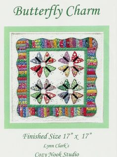 Butterfly charm by Cozy Nook Studios by Going2piecesquilts on Etsy