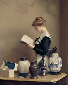 The Housemaid - William McGregor Paxton.