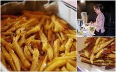 Batatas fritas no fornocom tomilho e paremesão