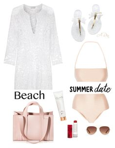 """""""#BeachDate"""" by angelicaren ❤ liked on Polyvore featuring ADRIANA DEGREAS, Miguelina, Corto Moltedo, Korres, Stella & Dot, beach and summerdate"""