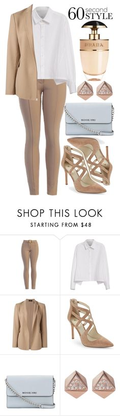 """""""60-Second Style: Family Dinner"""" by deedee-pekarik ❤ liked on Polyvore featuring Y's by Yohji Yamamoto, Theory, BCBGeneration, MICHAEL Michael Kors, FOSSIL, Prada, familydinner and 60secondstyle"""