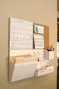 I really need a martha stewart wall manager, just need them to be in stock at staples Organizing Paperwork, Office Supply Organization, Wall Organization, Wall Storage, Home Office Design, Home Office Decor, Work Cubicle, Family Command Center, Organizer