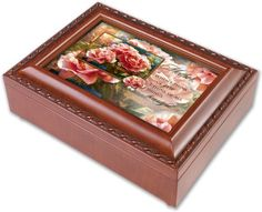 """Cottage Garden Mother Mom Tranquility Music Box Plays """"You Light Up My Life *** Read more at the image link."""