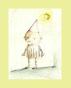 Pinocchionursery art Childrens Art Print wall by illustrationzak, €15.30 #madcap #handmade