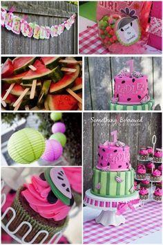 Watermelon birthday party theme!!