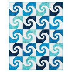 Display the illusion of movement with the Swirling Snail's Trail Quilt. Description from accuquilt.com.au. I searched for this on bing.com/images